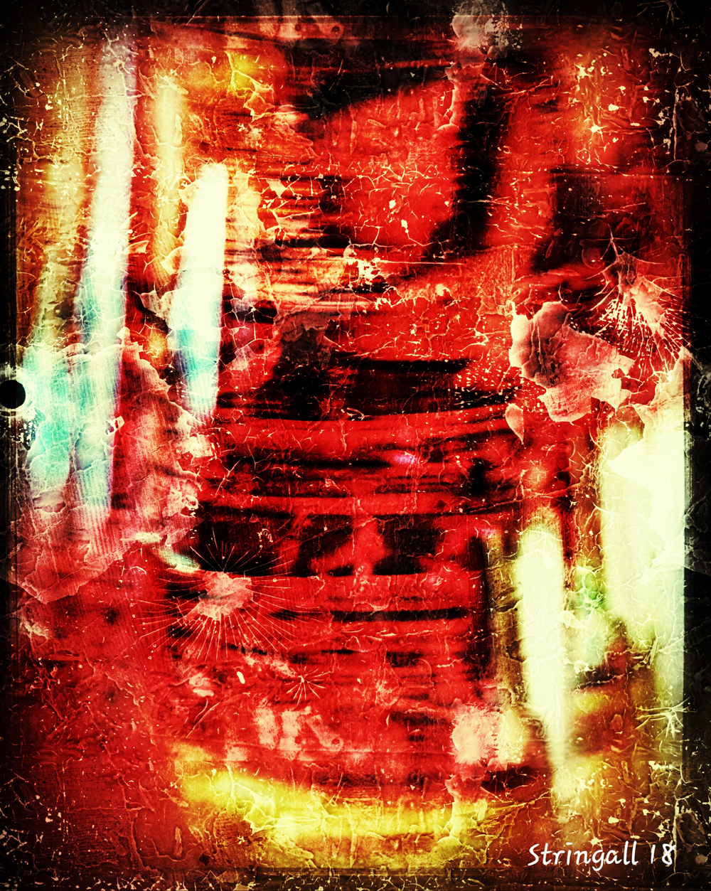 Abstract red - spirit capture in a bottle